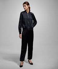 KARL LAGERFELD Joggers with Eyelets Pants Woman f