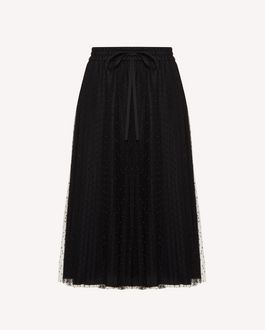 REDValentino Pleated point d'esprit tulle skirt