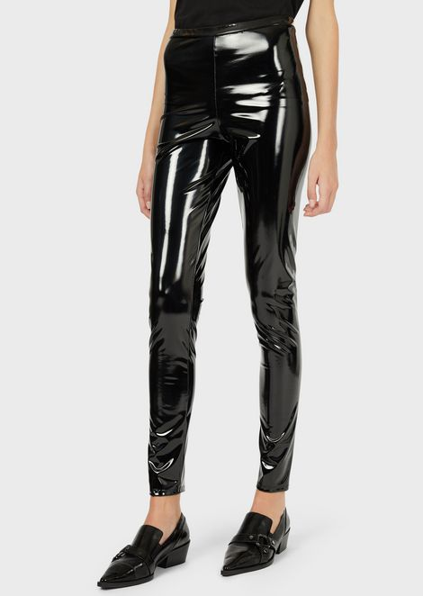 Vinyl-coated leggings