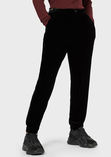 Pantalones de terciopelo con correas laterales