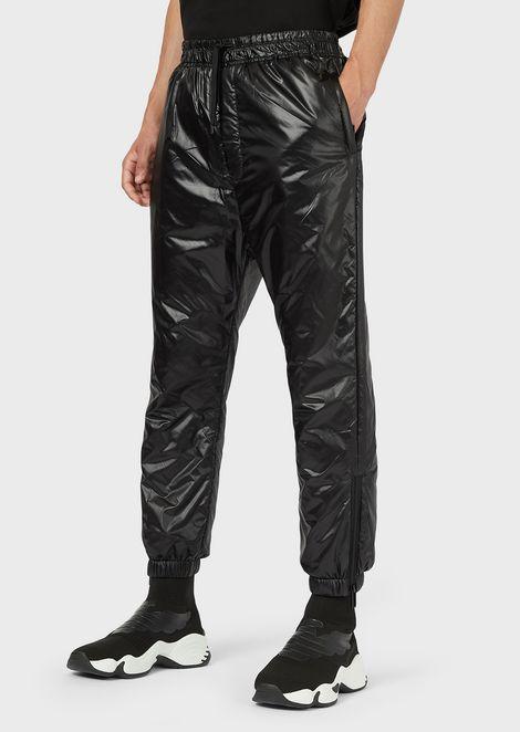 Pantalones deportivos R-EA-MIX en nailon brillante