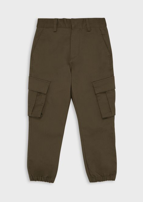 Twill cargo trousers