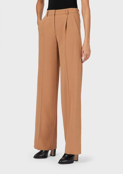 Loose-fit trousers in virgin wool