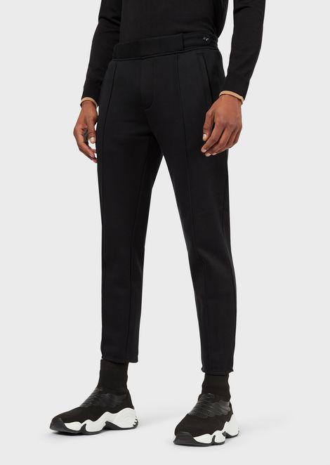 Pantalones de felpa con cintura elástica