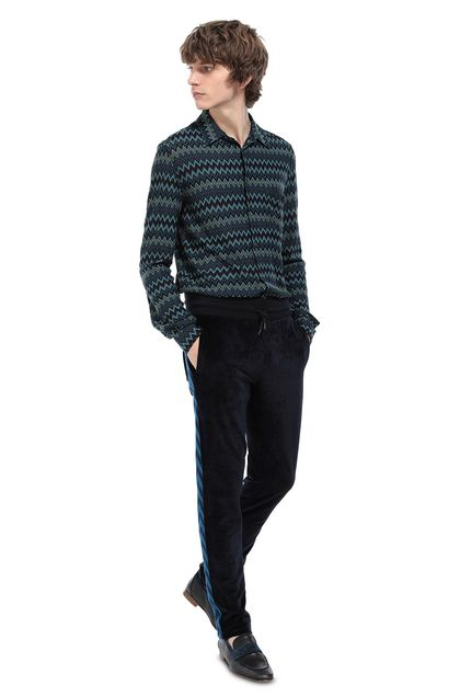 MISSONI Trouser Dark blue Man - Front