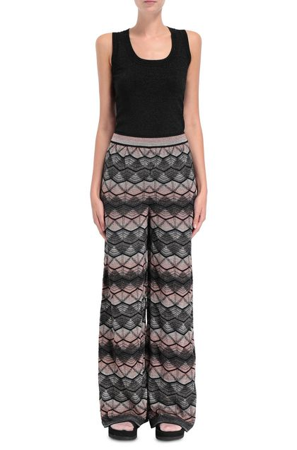 M MISSONI Pants Steel grey Woman - Back