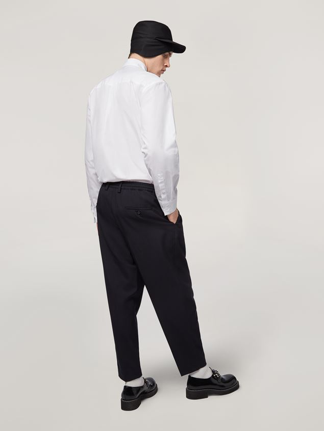 Marni Darted trousers in tropical wool Man