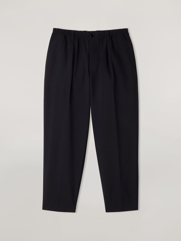 Marni Darted trousers in tropical wool Man - 1