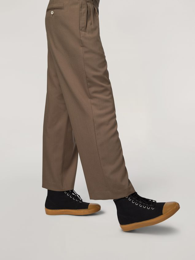 Marni Trousers in tropical wool brown Man - 5