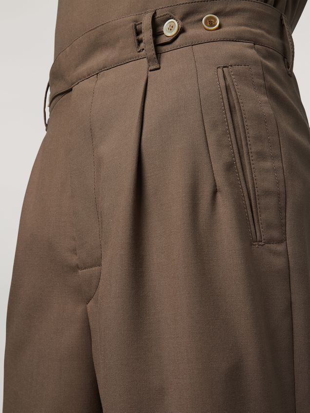 Marni Trousers in tropical wool brown Man - 4