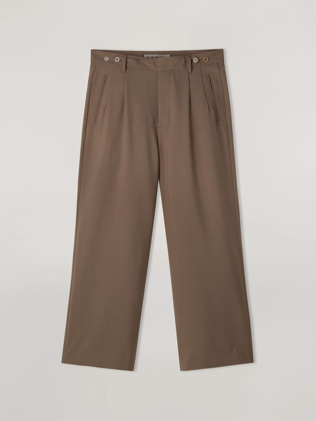 Marni Trousers in tropical wool brown Man - 2