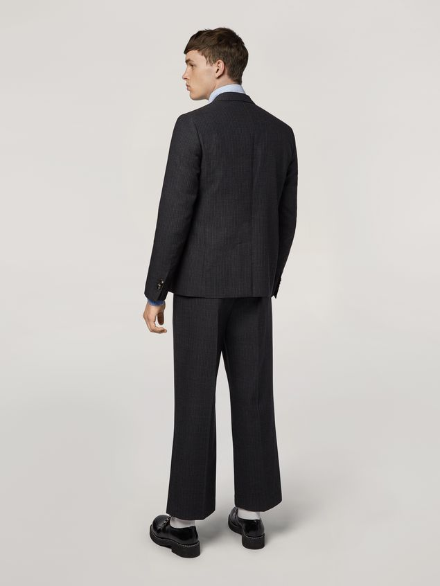 Marni Pants in mélange gray-blue tropical wool  Man