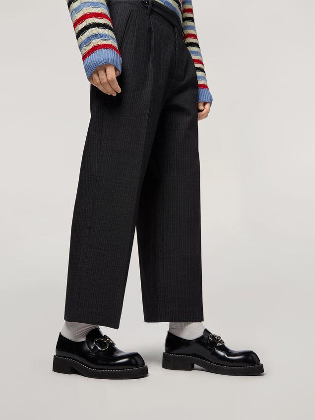 Marni Pants in mélange gray-blue tropical wool  Man - 5