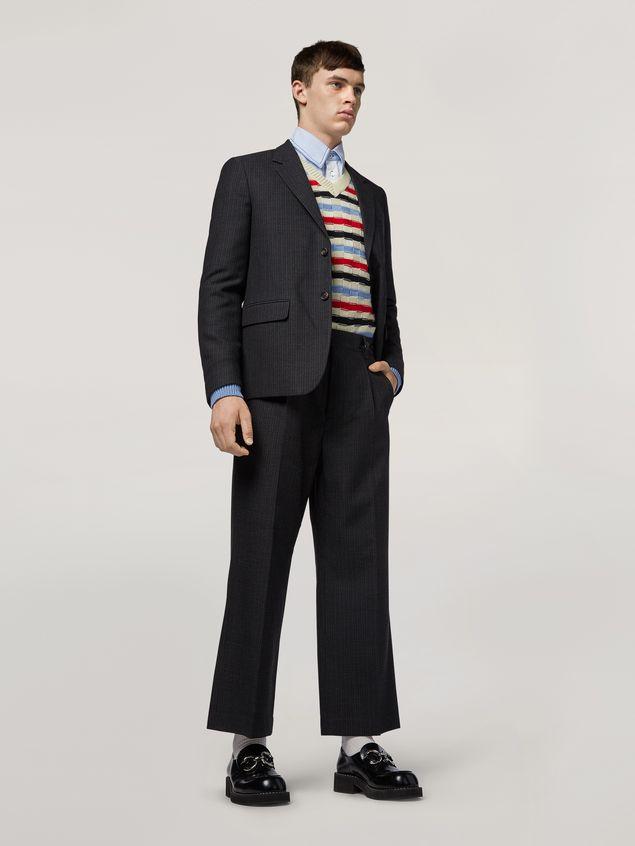 Marni Pants in mélange gray-blue tropical wool  Man - 1