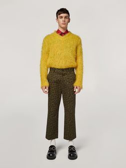 Marni Trousers in heavy cotton Camo Cells print Man