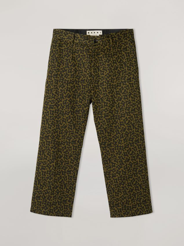 Marni Trousers in heavy cotton Camo Cells print Man - 2