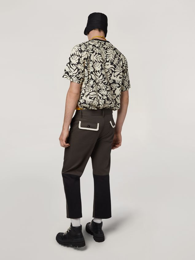 Marni Pants in workwear gabardine with contrast inserts Man