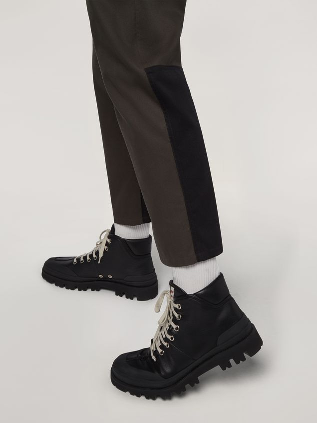 Marni Pants in workwear gabardine with contrast inserts Man - 4