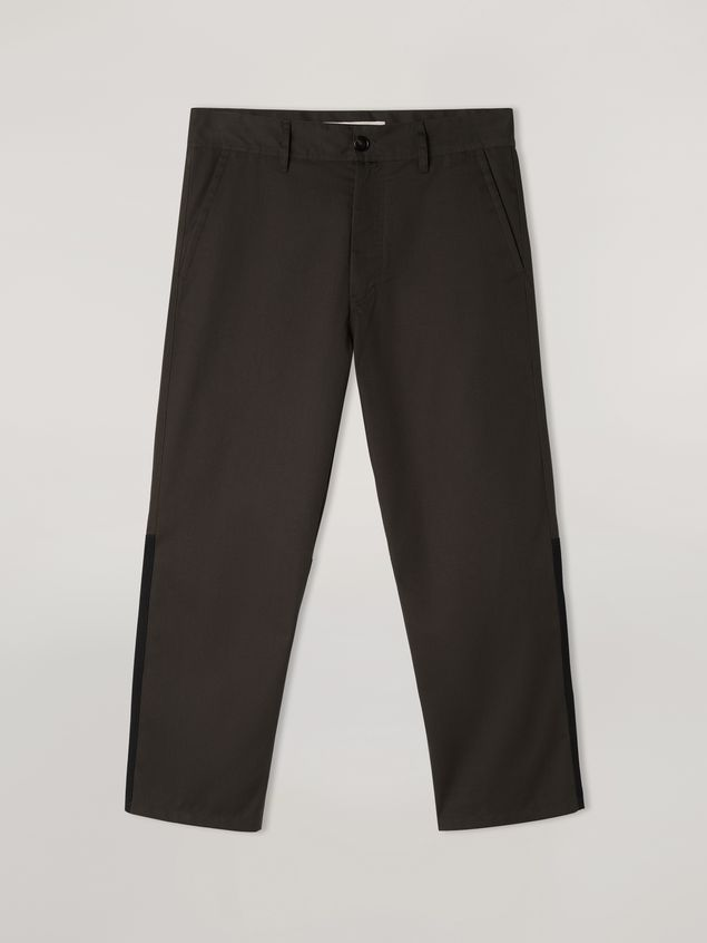 Marni Pants in workwear gabardine with contrast inserts Man - 2