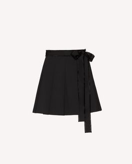 REDValentino Stretch wool reps pleated shorts