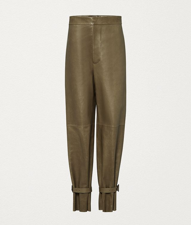 BOTTEGA VENETA TROUSERS IN LAMB SATINÉ Trousers and Shorts Woman fp