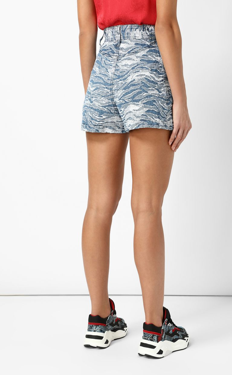 JUST CAVALLI Jacquard denim shorts Shorts Woman a