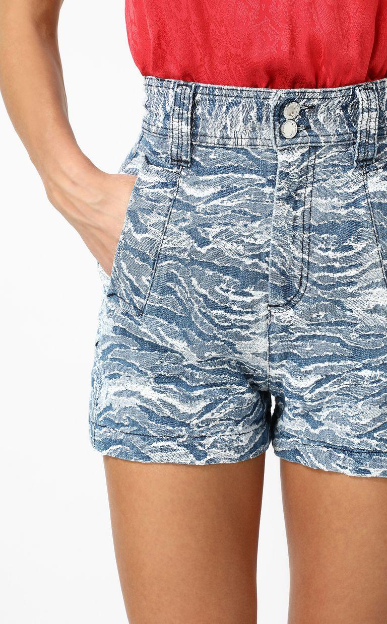 JUST CAVALLI Jacquard denim shorts Shorts Woman e