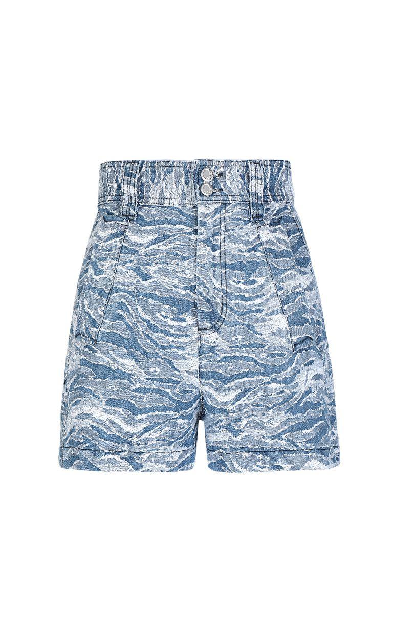 JUST CAVALLI Jacquard denim shorts Shorts Woman f