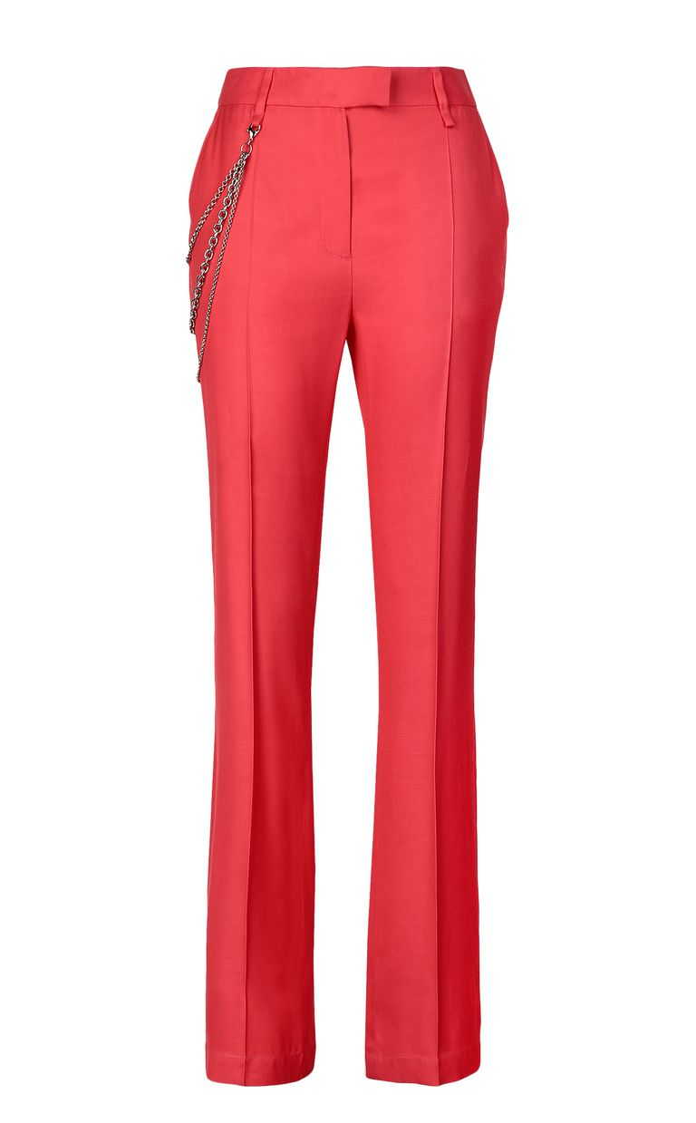 JUST CAVALLI Elegant trousers with chain Casual pants Woman f