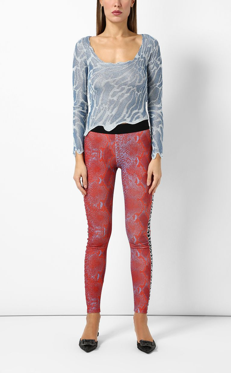 JUST CAVALLI Leggings with python print Casual trouser Woman d