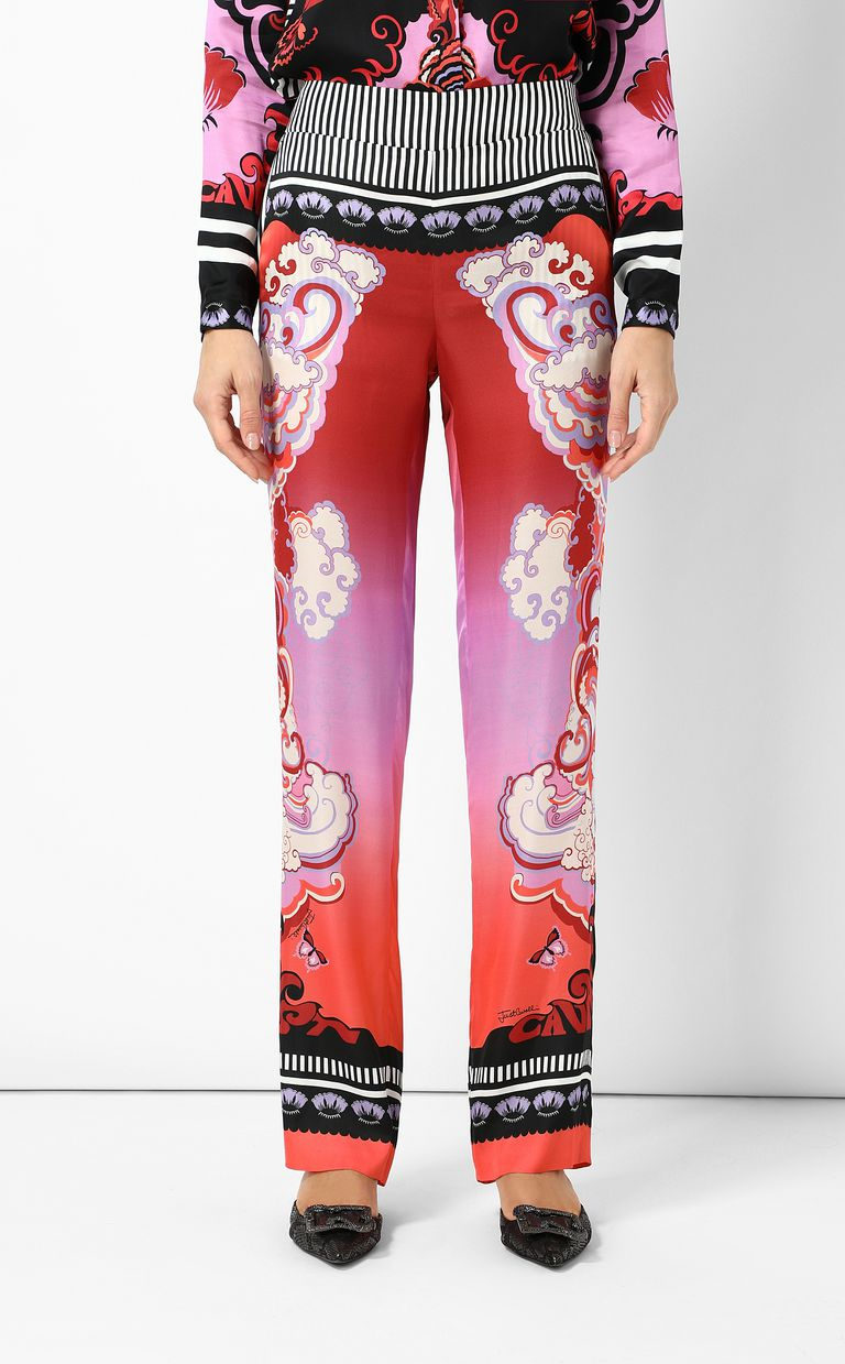 "JUST CAVALLI ""Genesis""-print trousers Casual pants Woman r"