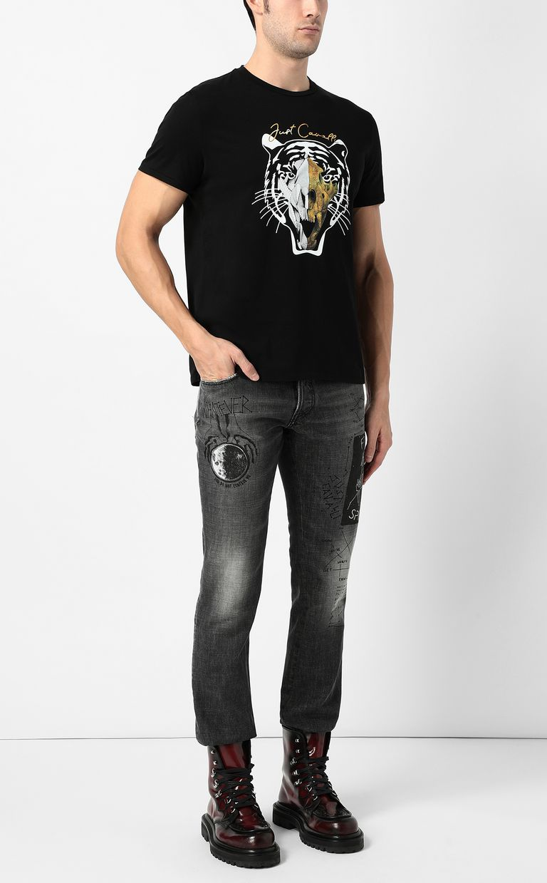 JUST CAVALLI Tiger-print Just-Fit jeans Jeans Man d