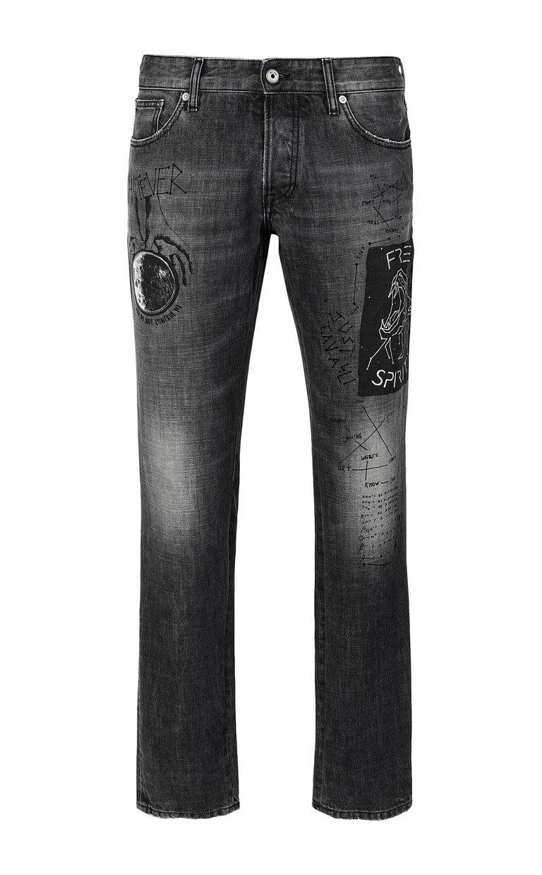 JUST CAVALLI Tiger-print Just-Fit jeans Jeans Man f