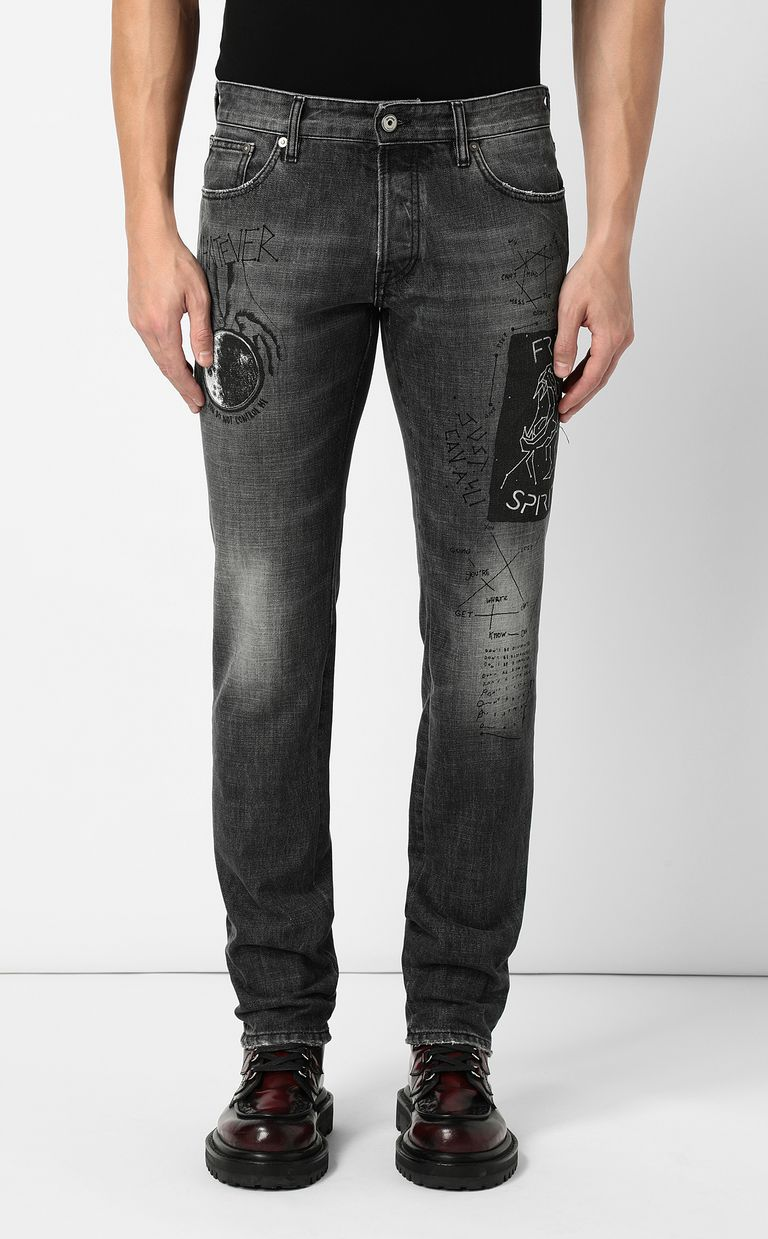 JUST CAVALLI Tiger-print Just-Fit jeans Jeans Man r