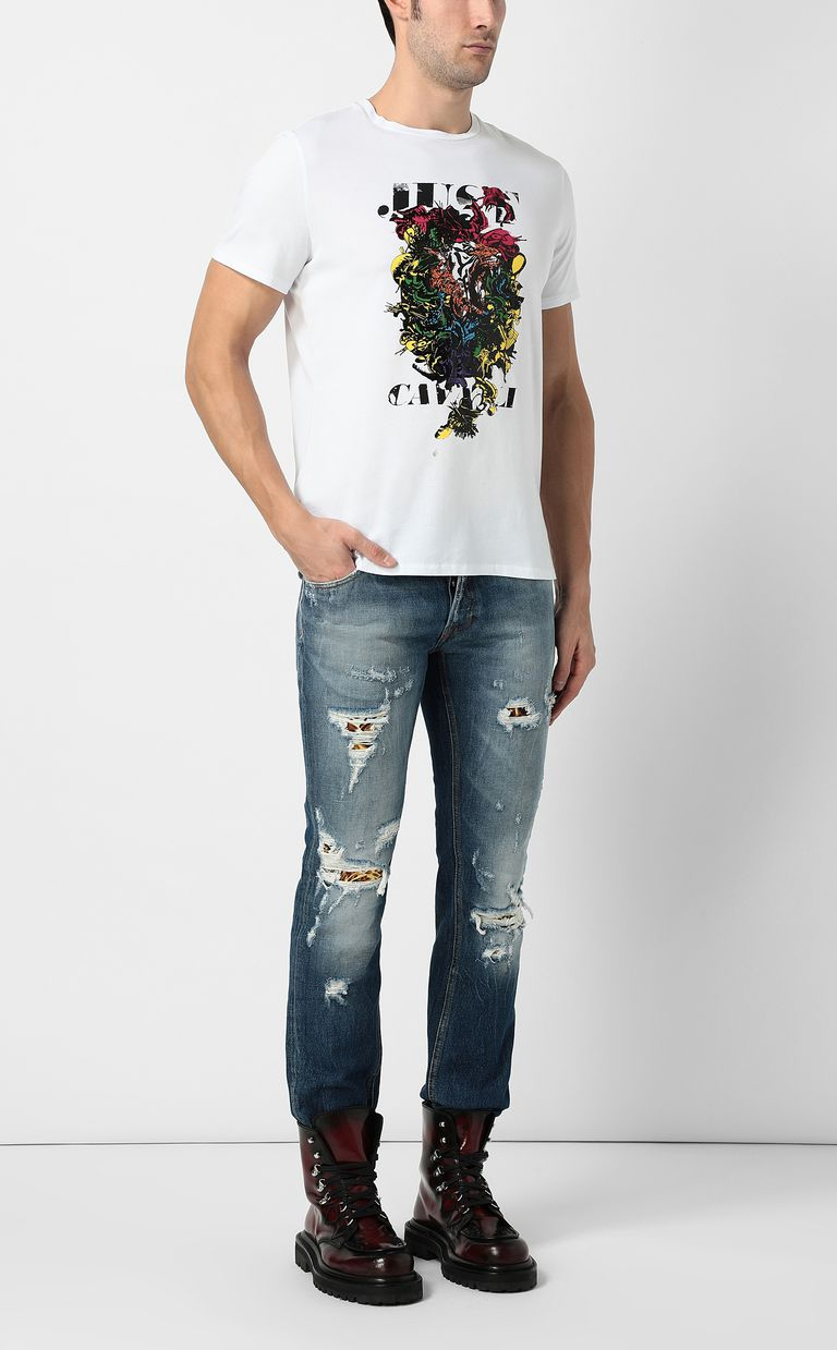 JUST CAVALLI Ripped jeans with a Just Fit Jeans Man d