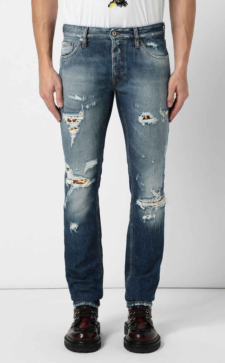 JUST CAVALLI Ripped jeans with a Just Fit Jeans Man r