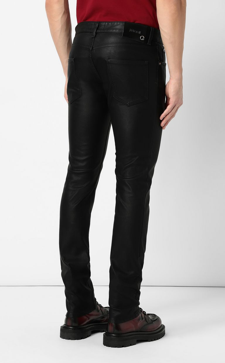 JUST CAVALLI Trousers in faux leather Casual trouser Man a