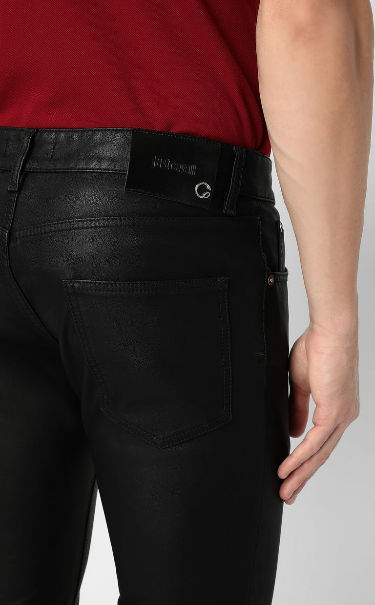 JUST CAVALLI Trousers in faux leather Casual trouser Man e