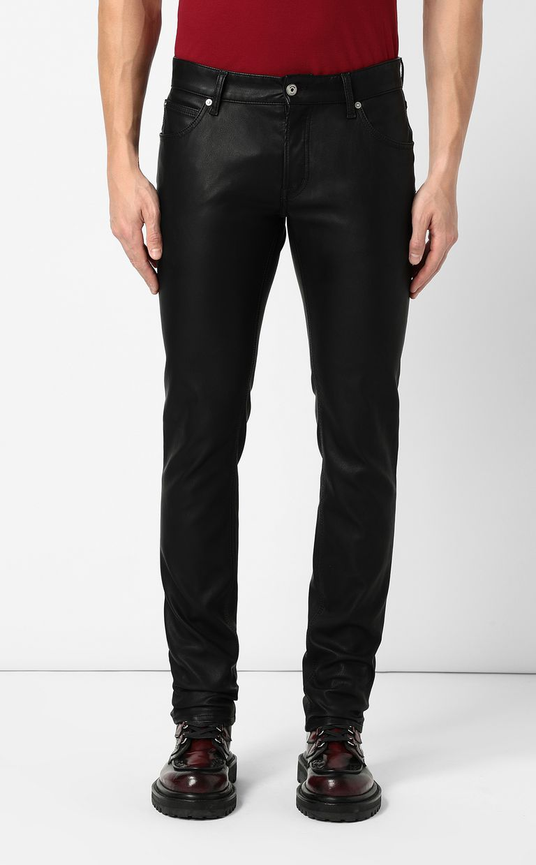 JUST CAVALLI Trousers in faux leather Casual pants Man r