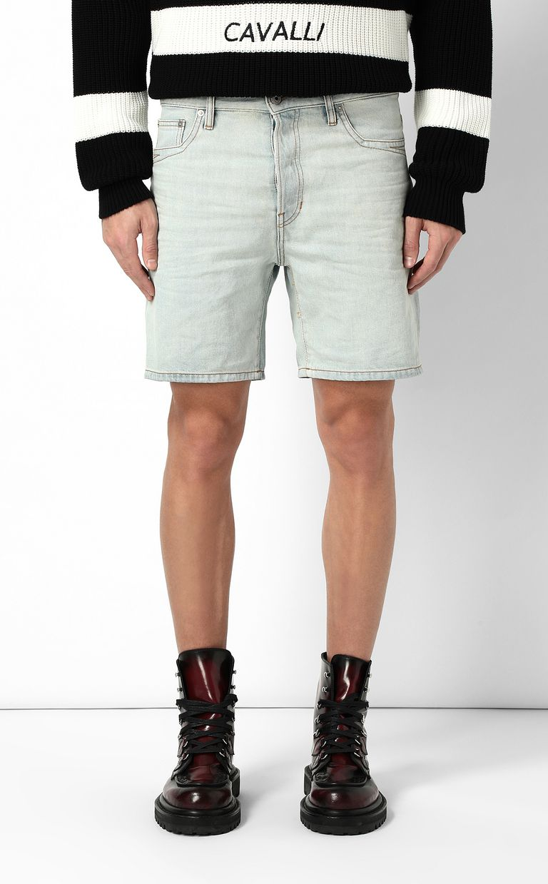 JUST CAVALLI Denim shorts Shorts Man r