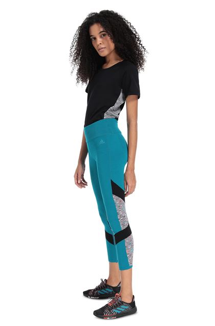 MISSONI ADIDAS X MISSONI LEGGINGS Turquoise Woman - Front
