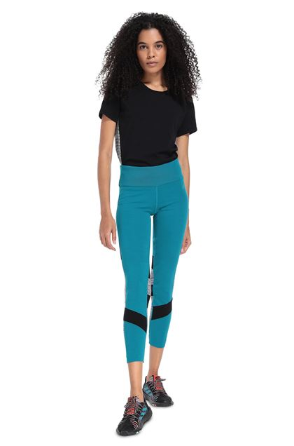 MISSONI ADIDAS X MISSONI LEGGINGS Turquoise Woman - Back