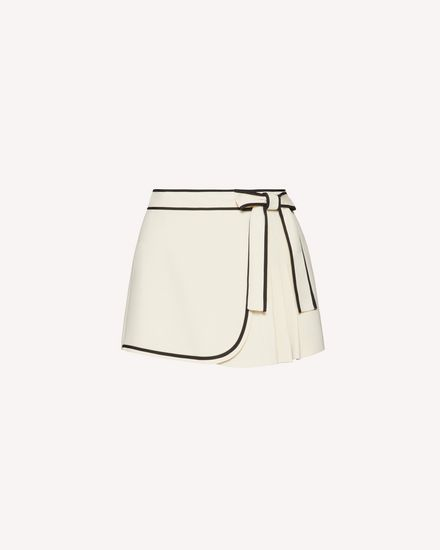Stretch frisottino shorts with contrast details