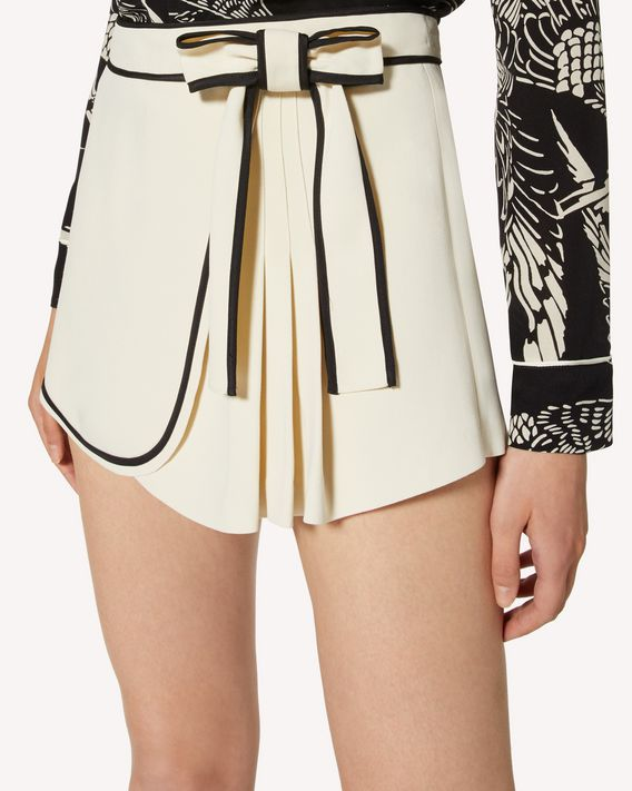 REDValentino Stretch frisottino shorts with contrast details