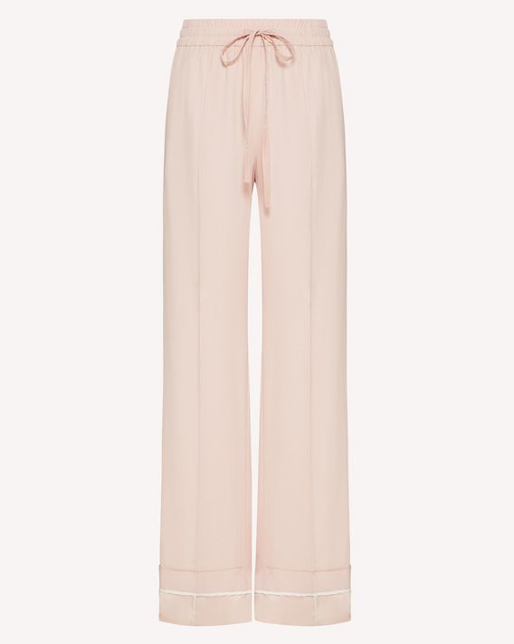REDValentino Satin-backed crepe pants