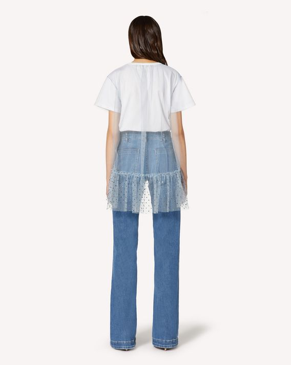 REDValentino Denim flared trousers