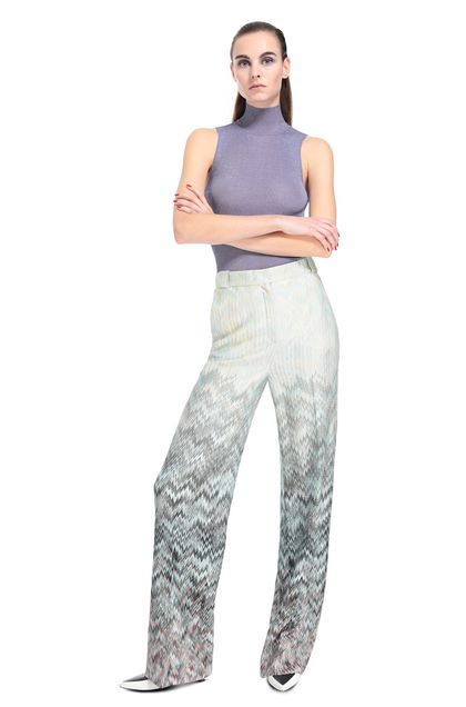 MISSONI Trouser Turquoise Woman - Back