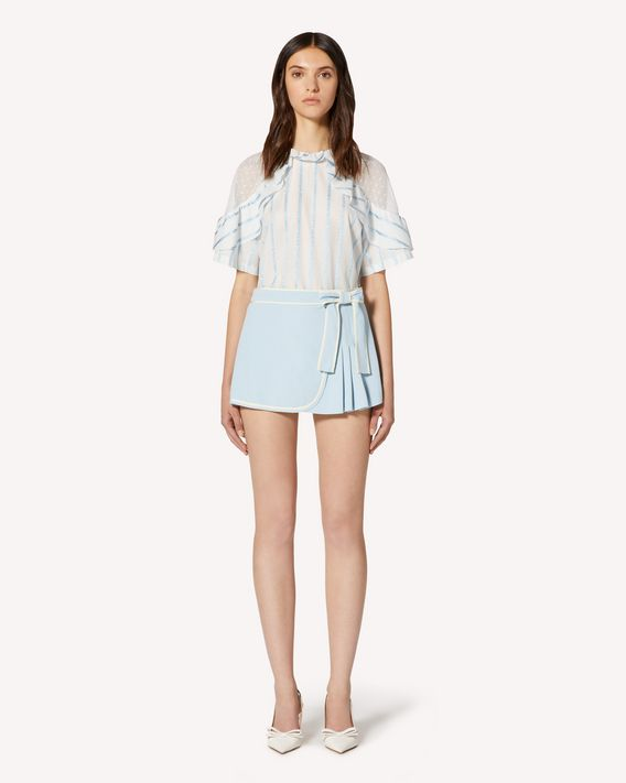 REDValentino Stretch frisottine shorts with contrasts