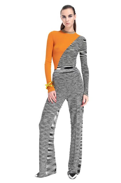MISSONI Pants Grey Woman - Back