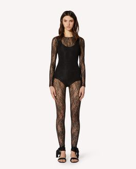 REDValentino Jersey lace leggings